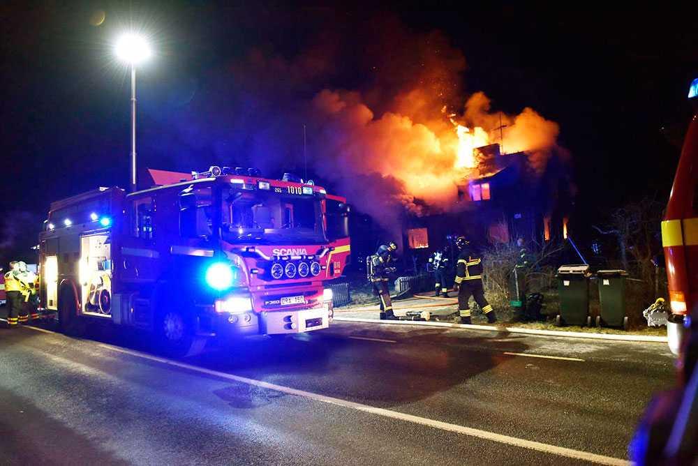 Branden i villan i Kristianstad.