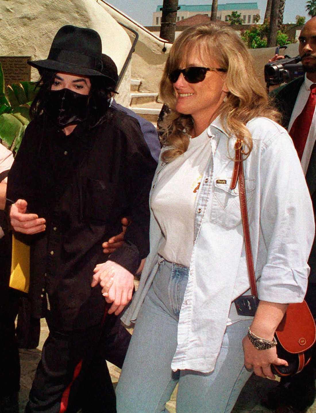 Michael Jackson och Debbie Rowe 1996.