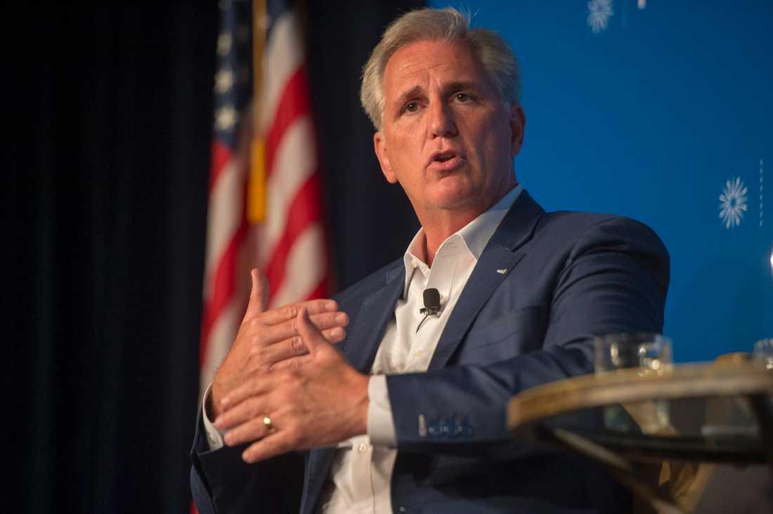 Republikanernas avgående majoritetsledare i representanthuset Kevin McCarthy vill bli partiets minoritetsledare.