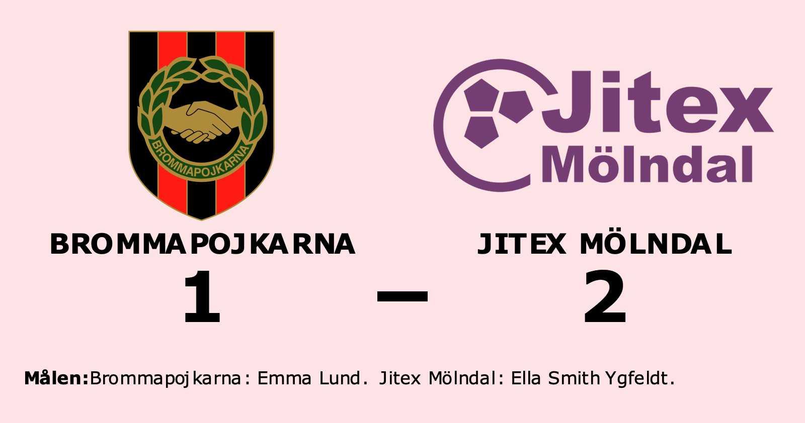 Jitex Mölndal avgjorde mot Brommapojkarna efter paus
