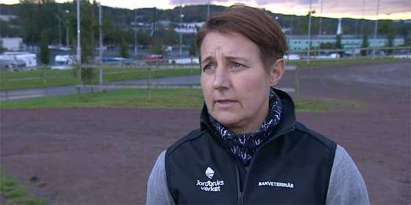 Jourveterinären Kristin Aurell efter olyckan.