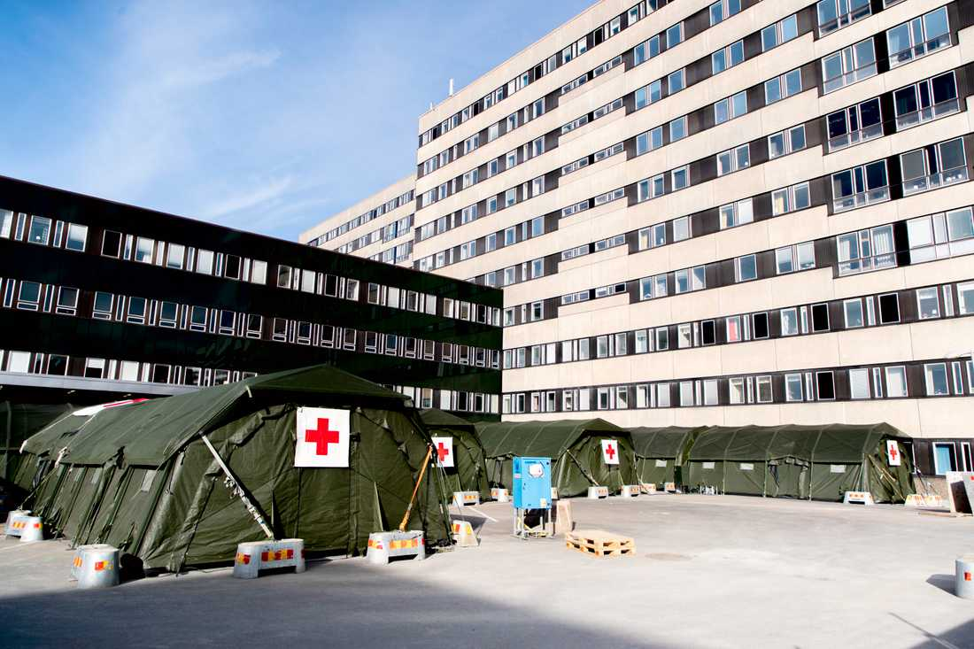 Kammarkollegiet har dragit tillbaka inkassokravet på 2,4 miljoner på Västra Götalandsregionen. Kravet gällde betalning för det fältsjukhus som sattes upp vid Östra sjukhuset i Göteborg. Arkivbilder.