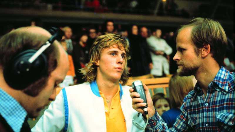 Tennis har alltid varit speciellt för Mats Strandberg. Här möter han en ung Strandberg en ännu yngre Björn Borg i Stockholm open 1973.