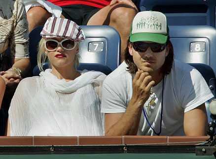 Gwen Stefani och maken Gavin Rossdale på tennismatch.