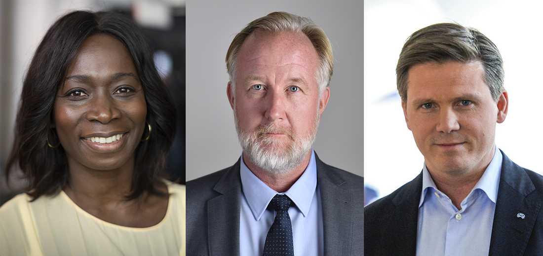 Nyamko Sabuni, Johan Pehrson och Erik Ullenhag vill alla ta över Liberalerna efter Jan Björklund. Arkivbild.