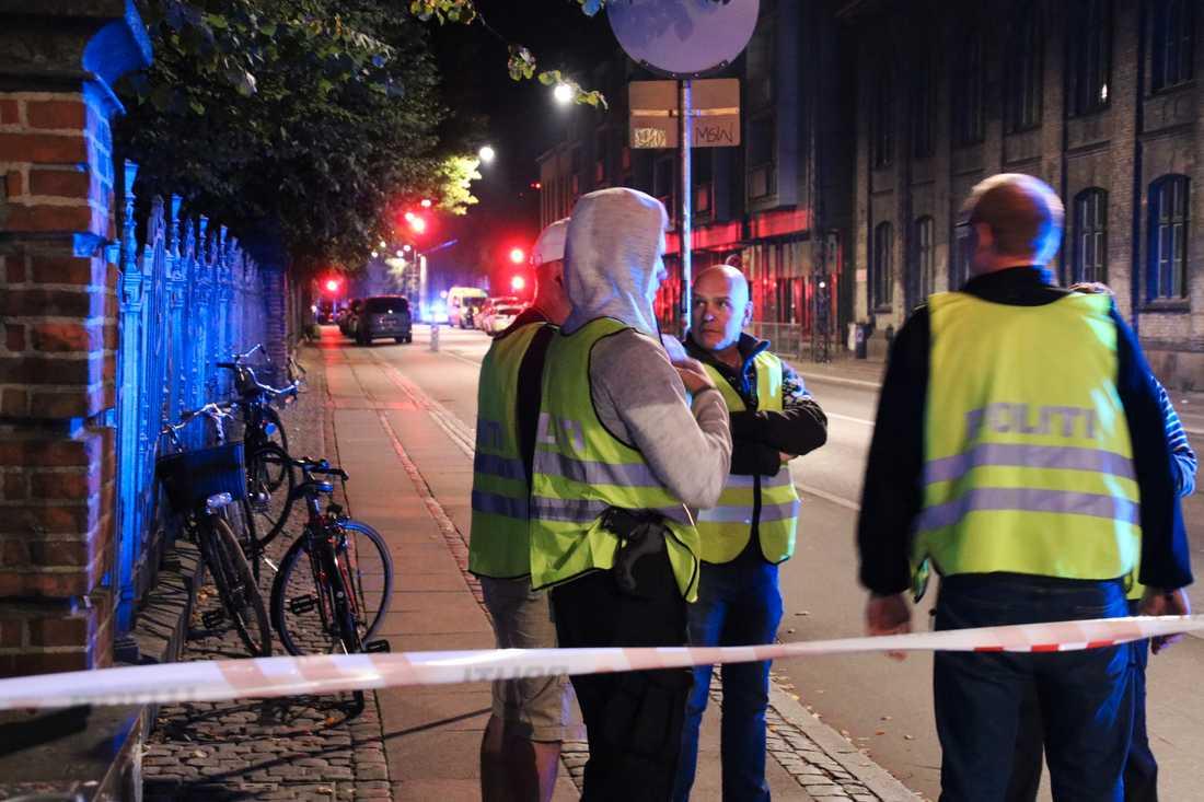 En person har skjutits i Köpenhamn.
