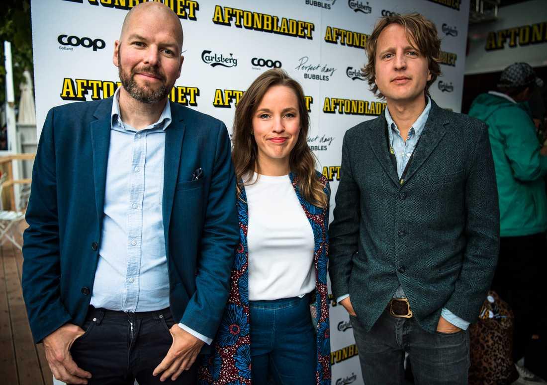 Jonathan Jeppsson, Ebba Thornéus och Olof Svensson från Aftonbladets samhällsredaktion.