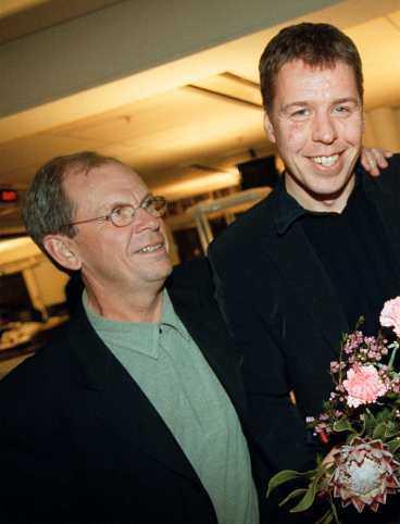 Chefredaktör Anders Gerdin och sportchefen Lasse Östling.