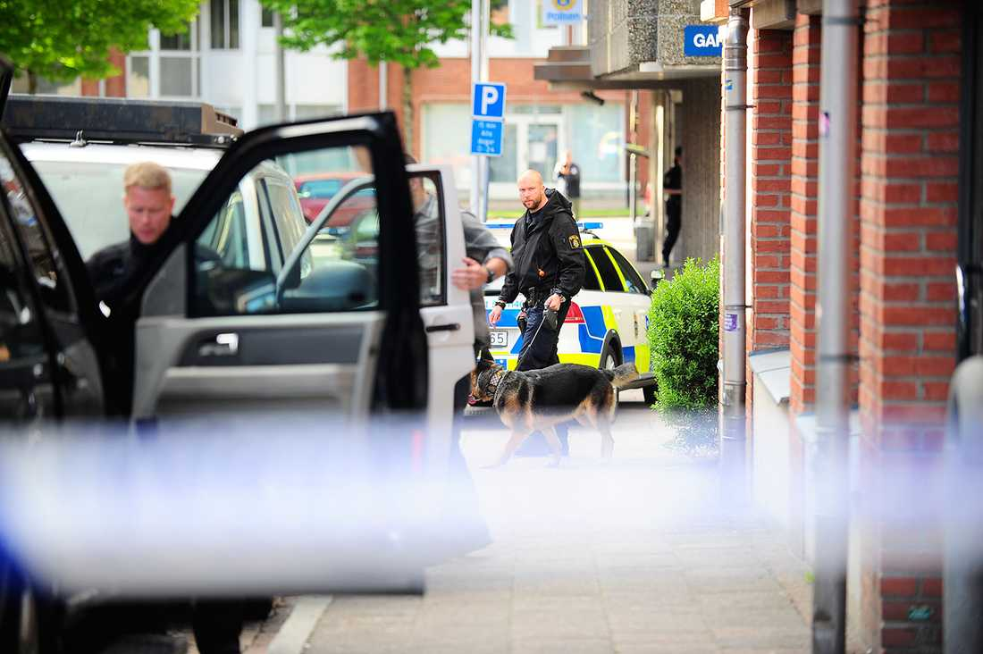 Skottlossning mot polishuset i Borås.
