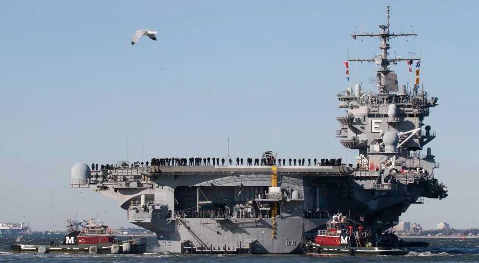 USA:s hangarfartyg USS Enterprise.