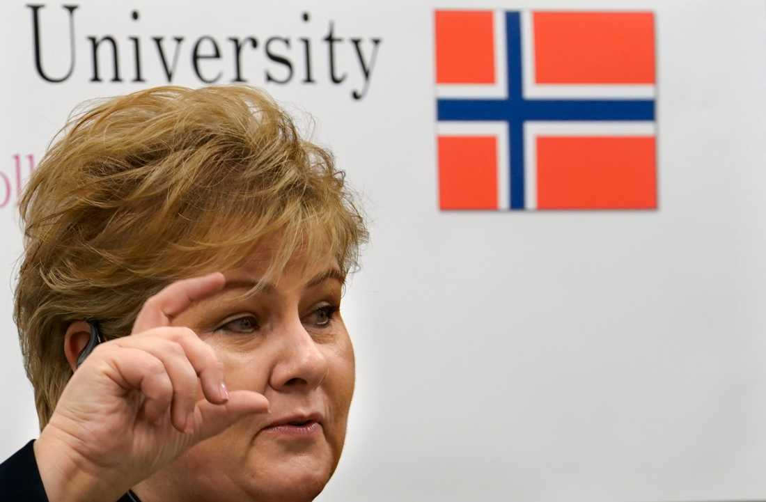 Norges statsminister Erna Solberg. Arkivbild.