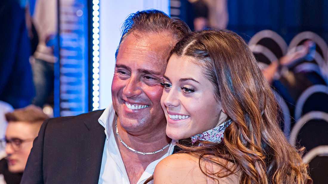 Bianca Ingrosso med sin pappa Emilio.
