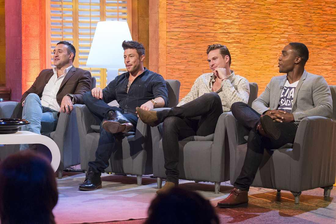 "Blues Antony Costa, Duncan James, Lee Ryan och Simon Webbe i brittiska tv-showen ""The Alan Titchmarsh Show"" september."