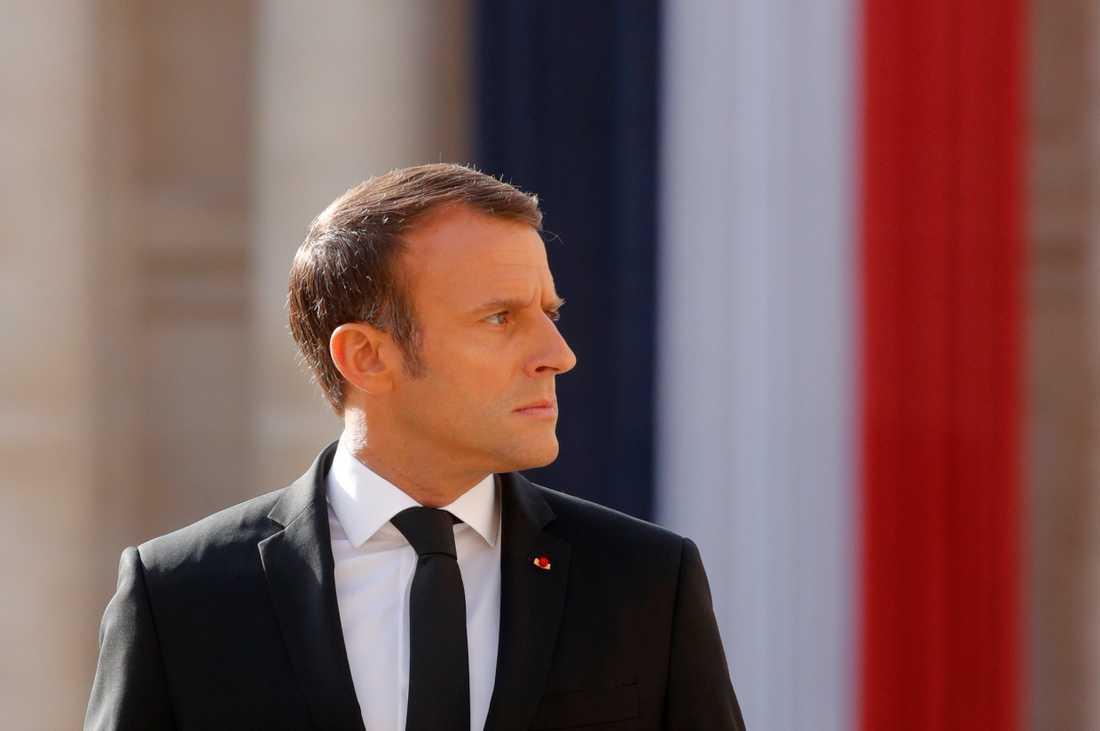 Frankrikes president Emmanuel Macron är inkopplad på ärendet med de gripna franska forskarna i Iran. Arkivbild.