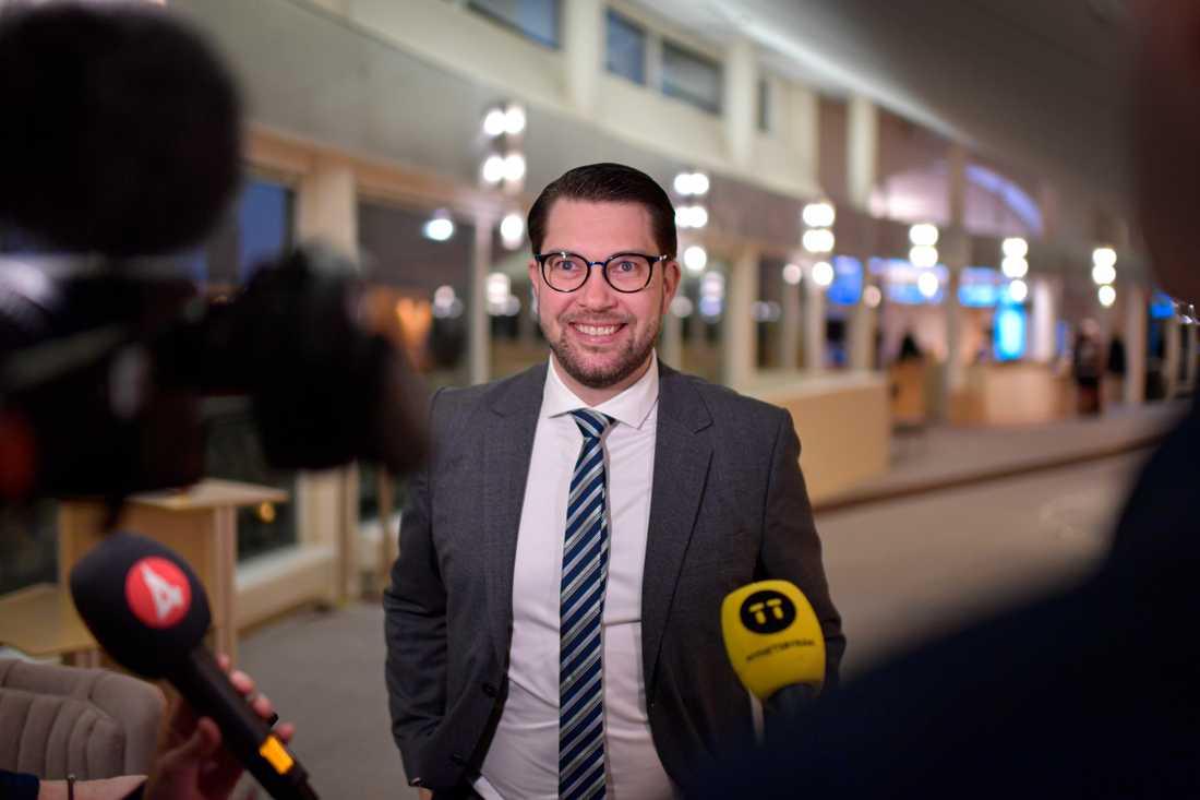 Åkesson kommenterar arbetsmötet han haft med Kristersson.
