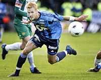 I fokus. Djurgården sa i dag nej till tyska Bundesliga-klubben Schalke 04:s bud på anfallaren Sören Larsen.