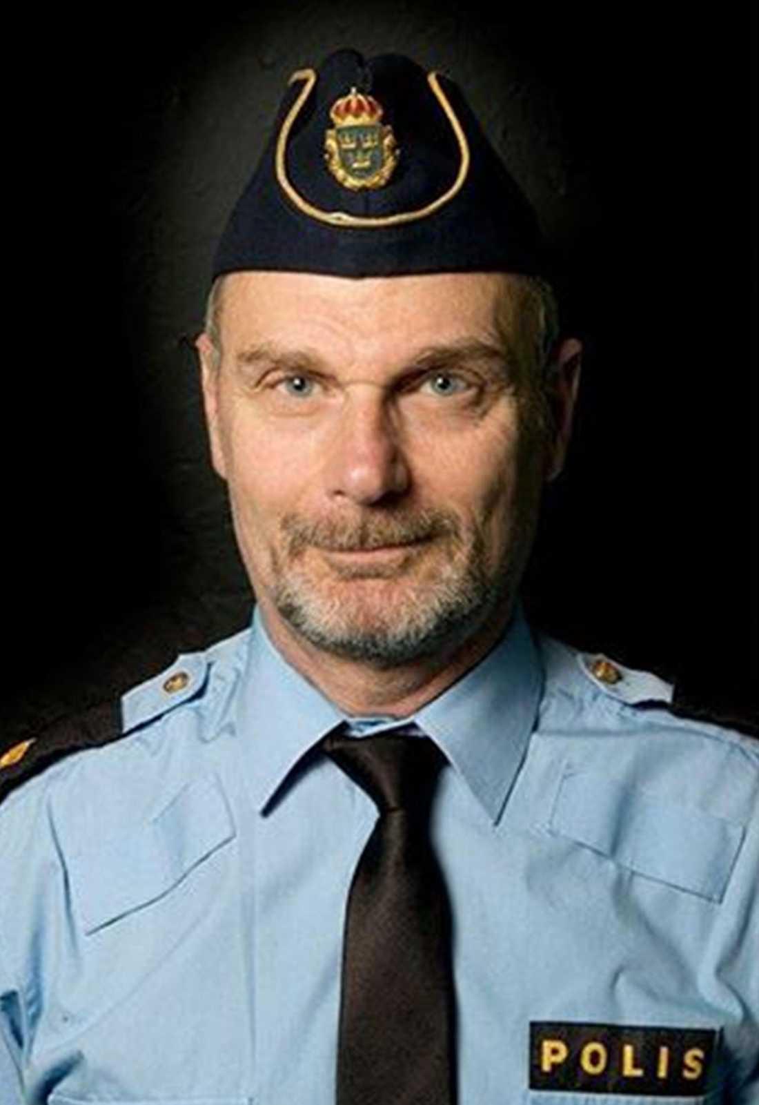 Göran Stanton på polisens hatbrottsgrupp.