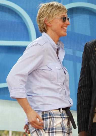 Ellen Degeneres, 2007: 62 kilo När Ellen Degeneres, 51, slutade äta kött och blev vegetarian krympte hennes midjemått med en hejdundrande fart. I augusti 2007 vägde hon 62 kilo.