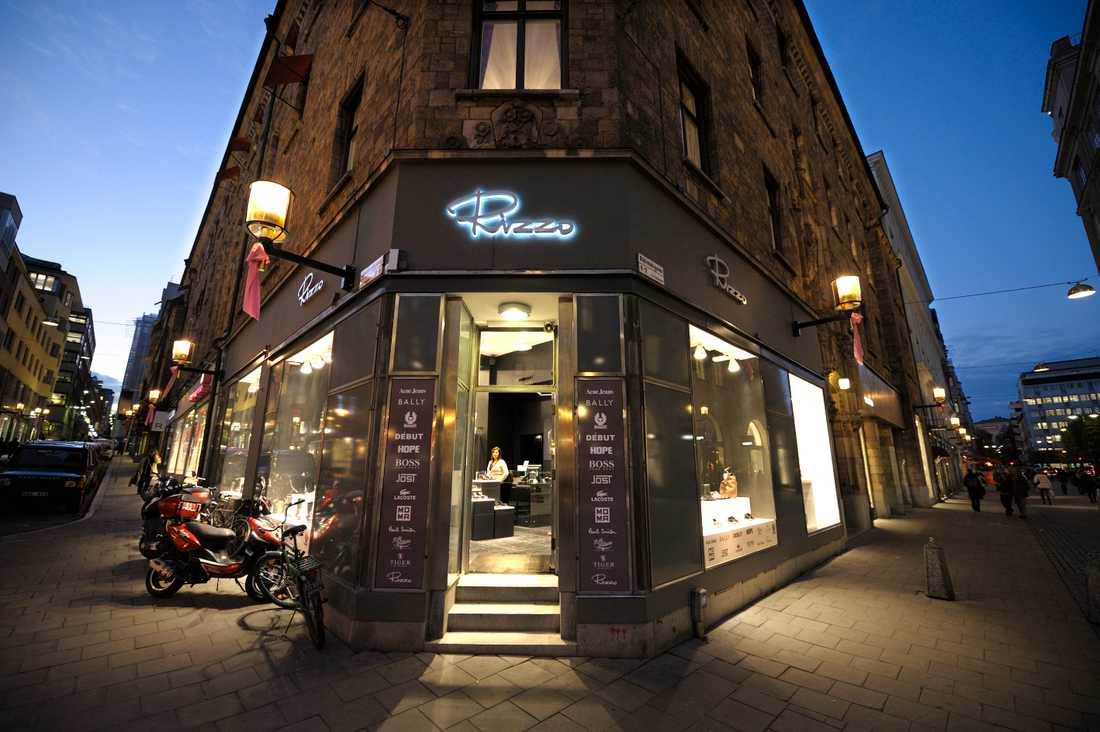 En Rizzo-butik i Stockholm.