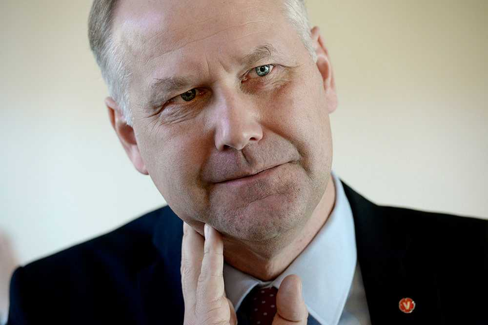 Vänsterpartiets ledare Jonas Sjöstedt (V).