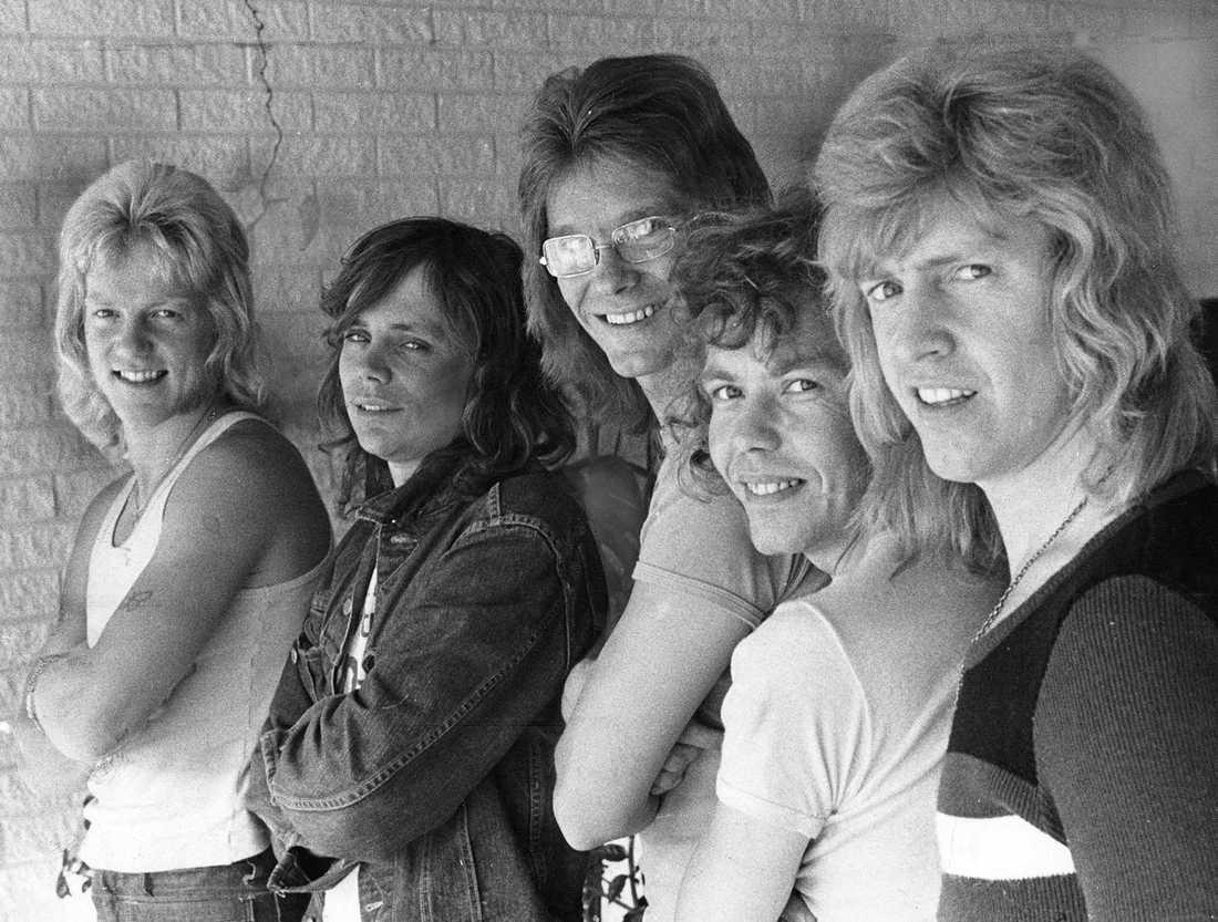 Flamingokvintetten 1973: Dennis Janebrink, Åke Andersson, Gunnar Karlsson, Boris Estulf och Hasse Carlsson