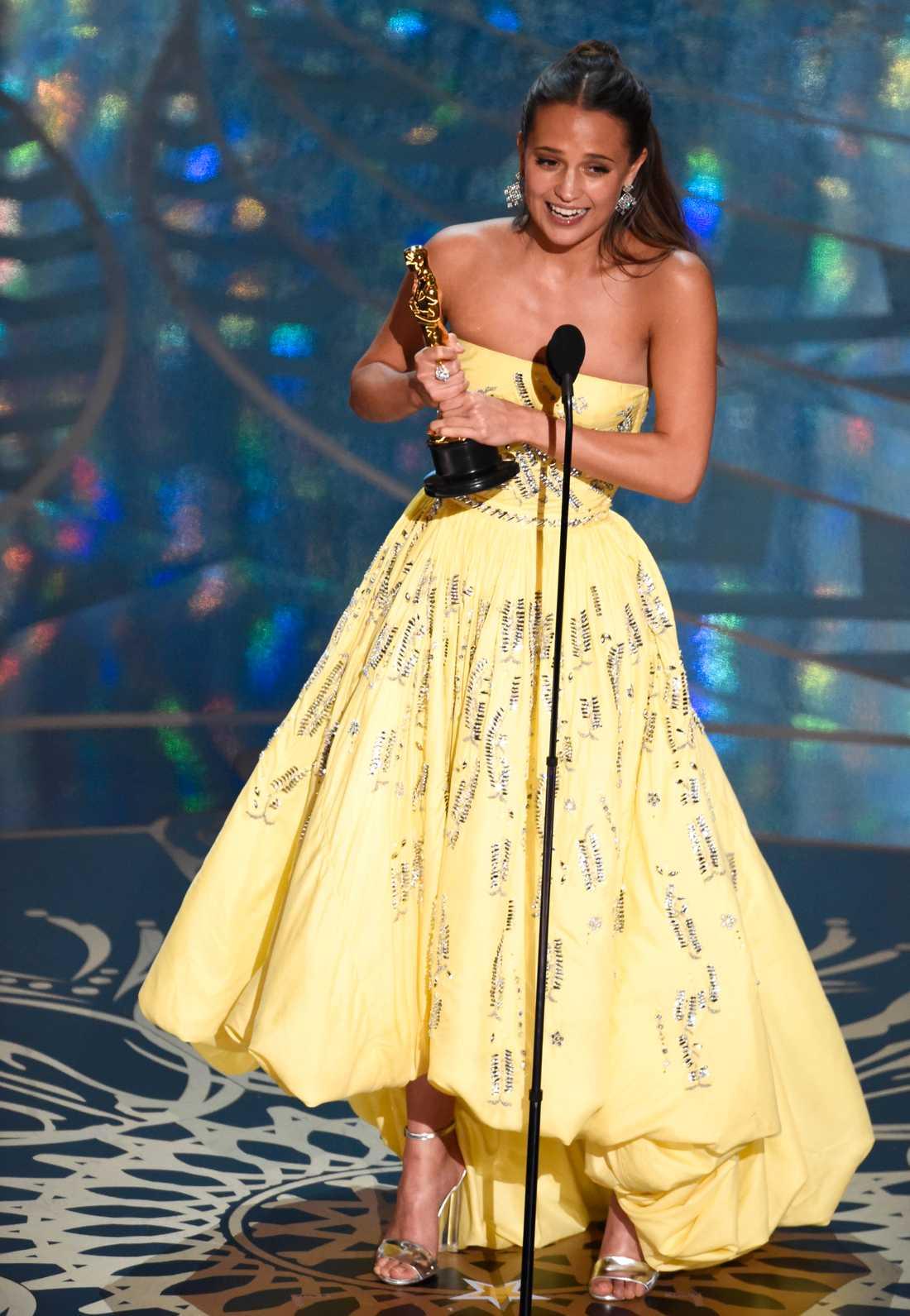 Förra året kammade Alicia Vikander hem priset för Bästa kvinnligs biroll.