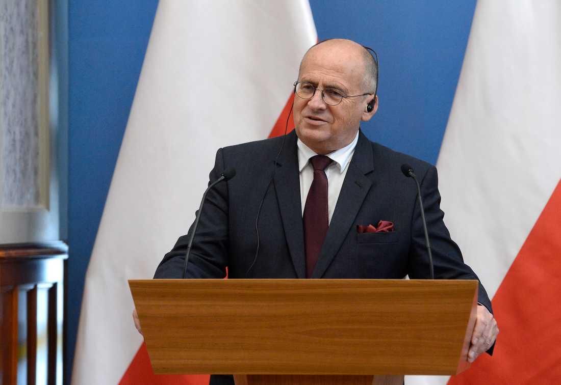 Polens utrikesminister Zbigniew Rau. Arkivbild.
