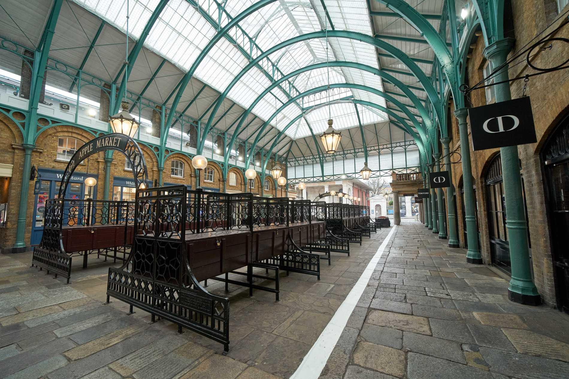 Covent Garden brukar vara proppat med turister.