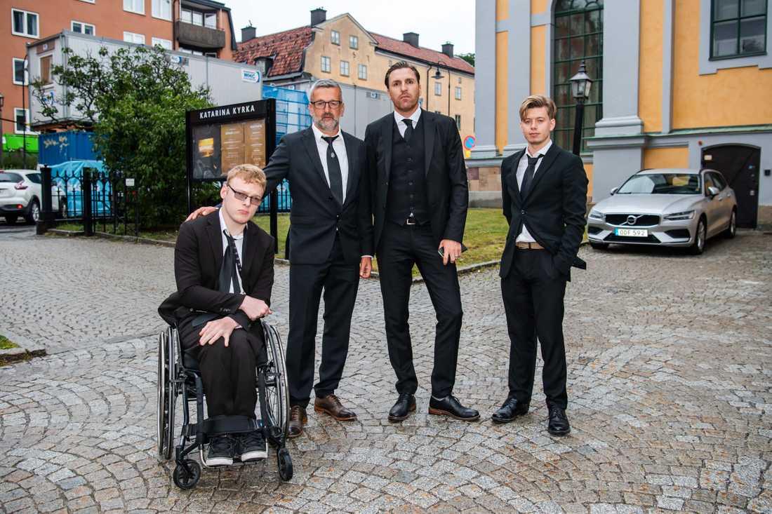 AIK:s Nebojsa Novakovic och Nils-Eric Johansson.