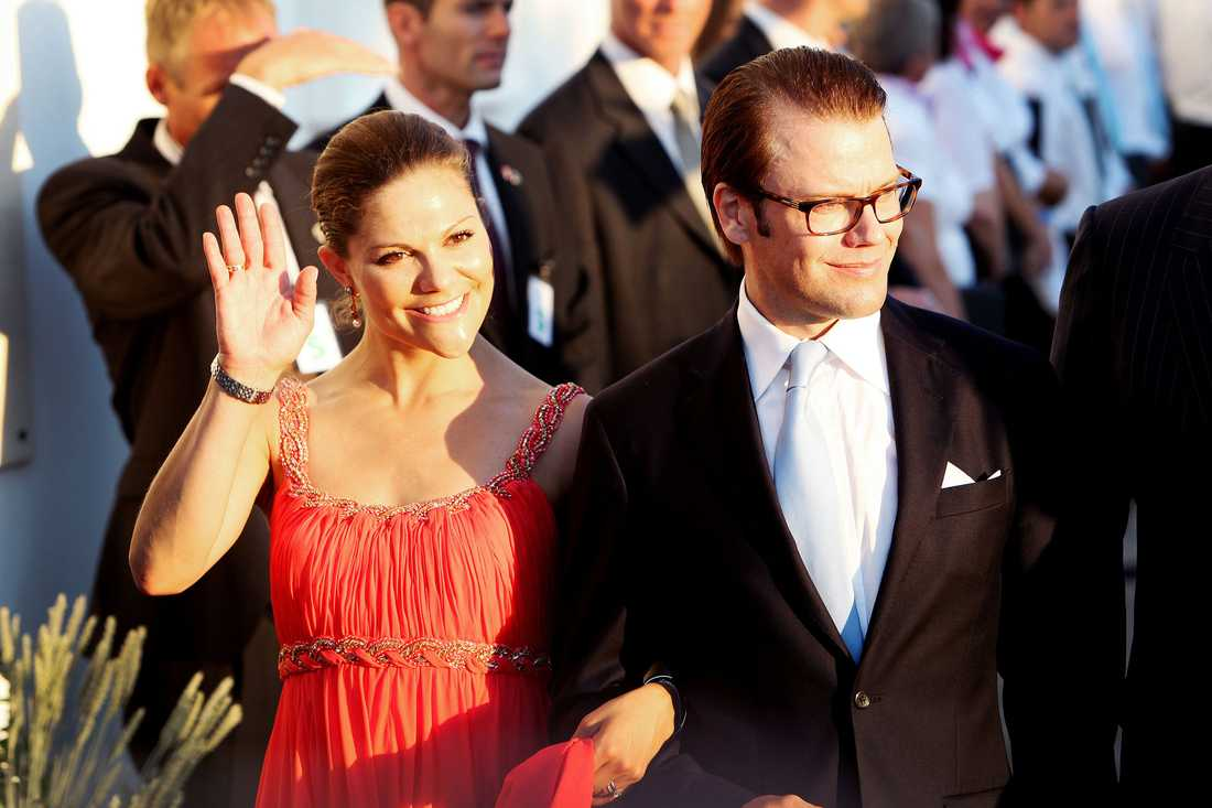 """Kronprinsessan Victoria och prins Daniel var märkbart tagna efter vigseln. """"Det var väldigt fint"""", säger Victoria."""