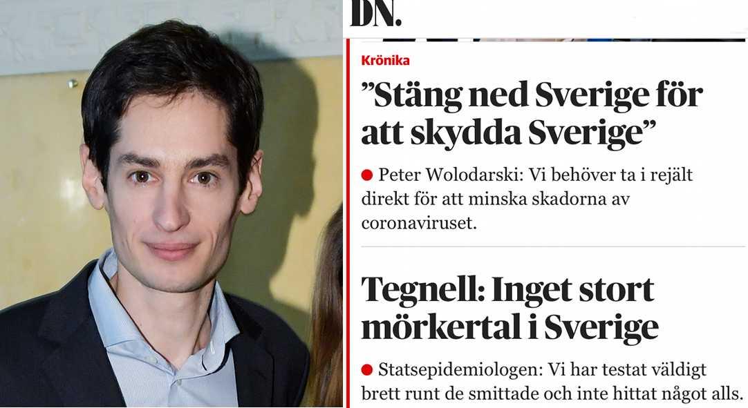 Peter Wolodarski, chefredaktör på Dagens Nyheter samt fredagens förstasida på dn.se.