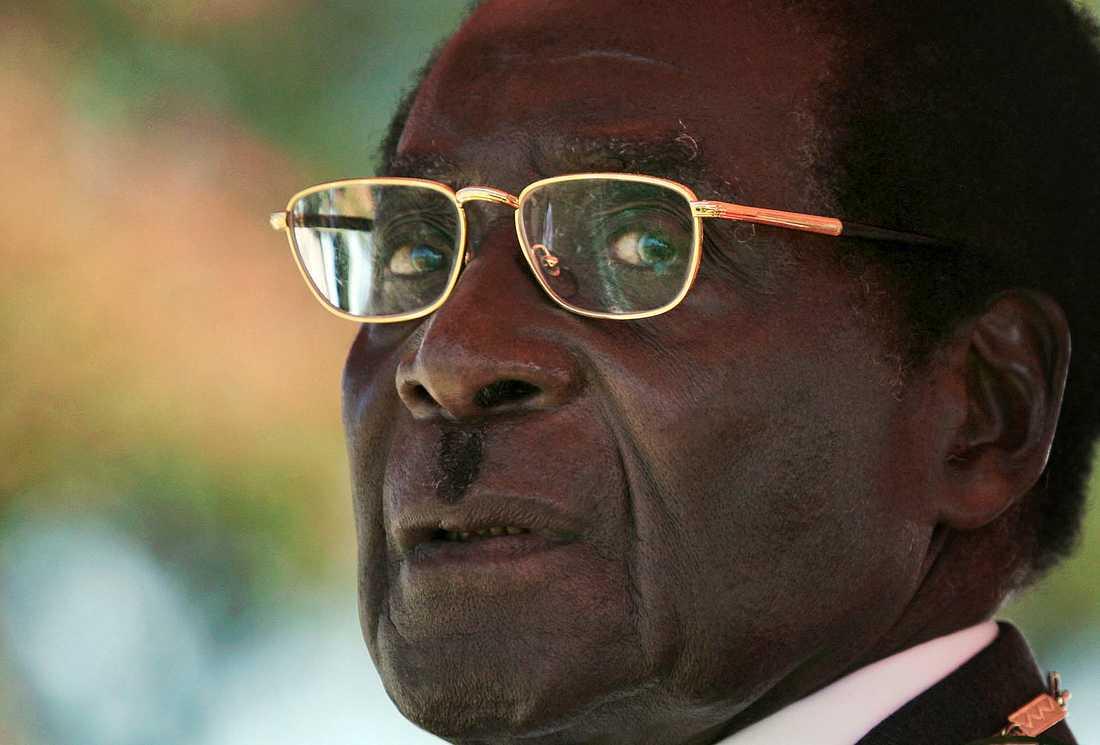 Zimbabwes tidigare president Robert Mugabe. Arkivbild.