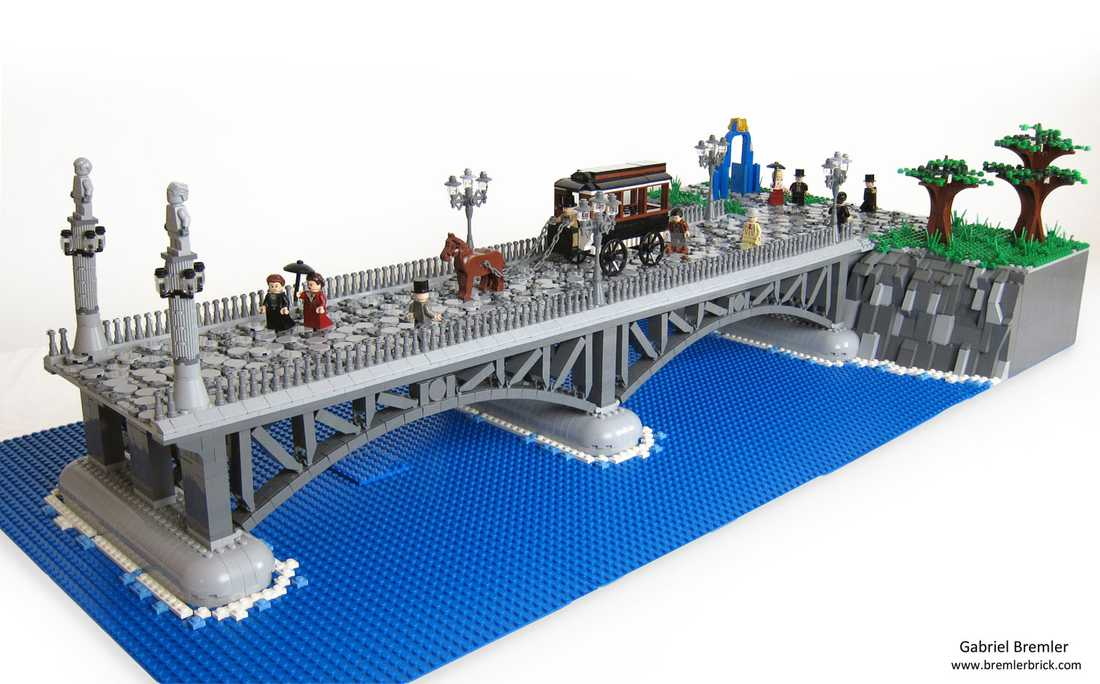 Djurgårdsbron i lego.
