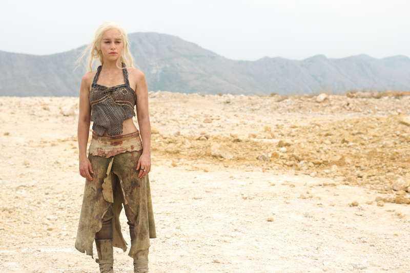 "...Daenerys Targaryen (Emilia Clarke), ""Game of thrones""."