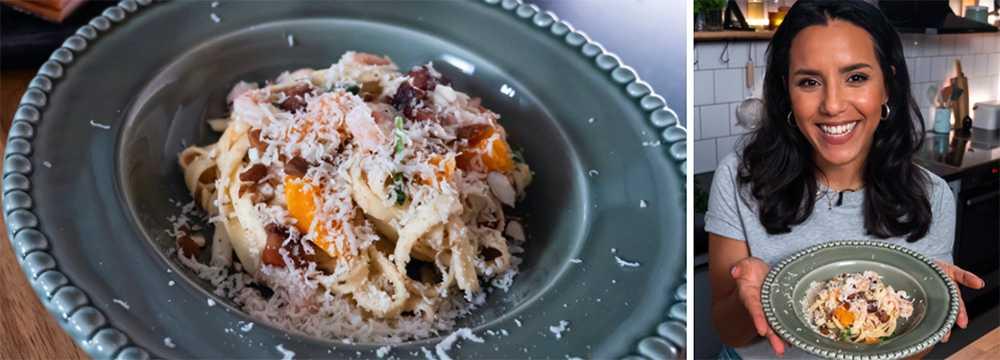 Markiz Tainton berättar i avsnittet hur du lagar en ännu godare pasta med smarta tips om pastavatten och smakrik pastasås.
