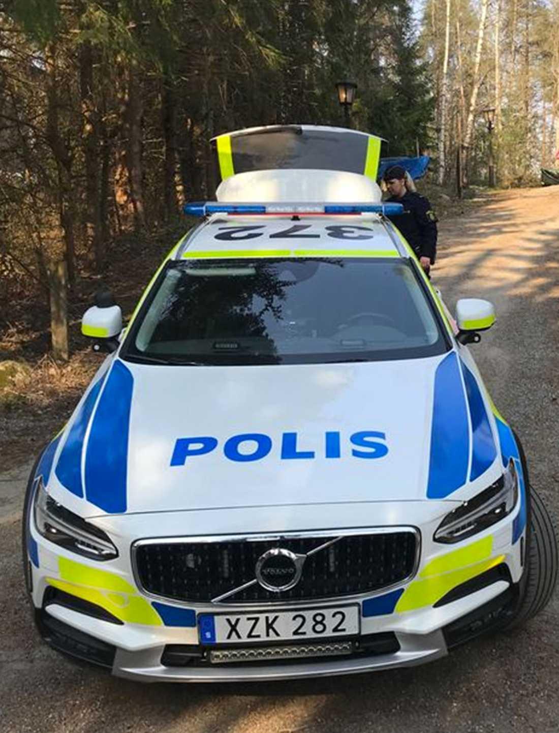 Polisinsatsen vid händelsen i april i år.