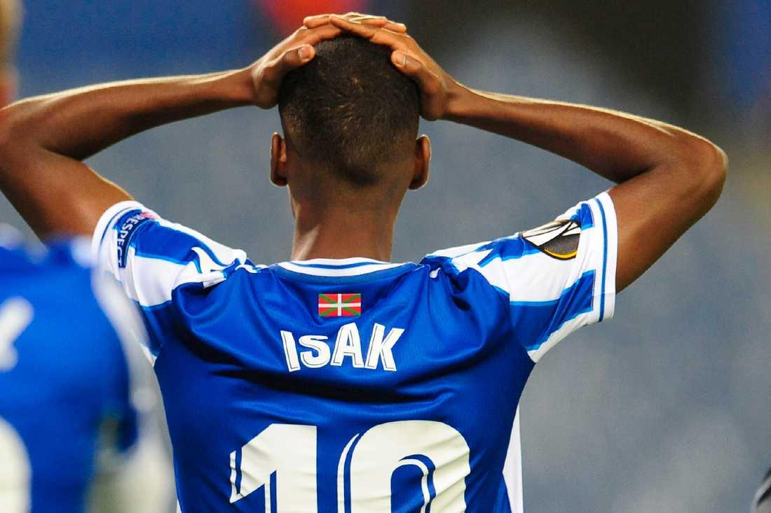 Alexander Isak hade en tung Europakväll.