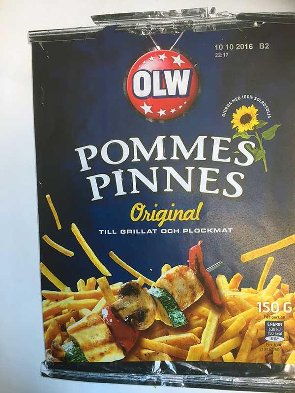 ...en påse Pommes Pinnes - och hittade en...
