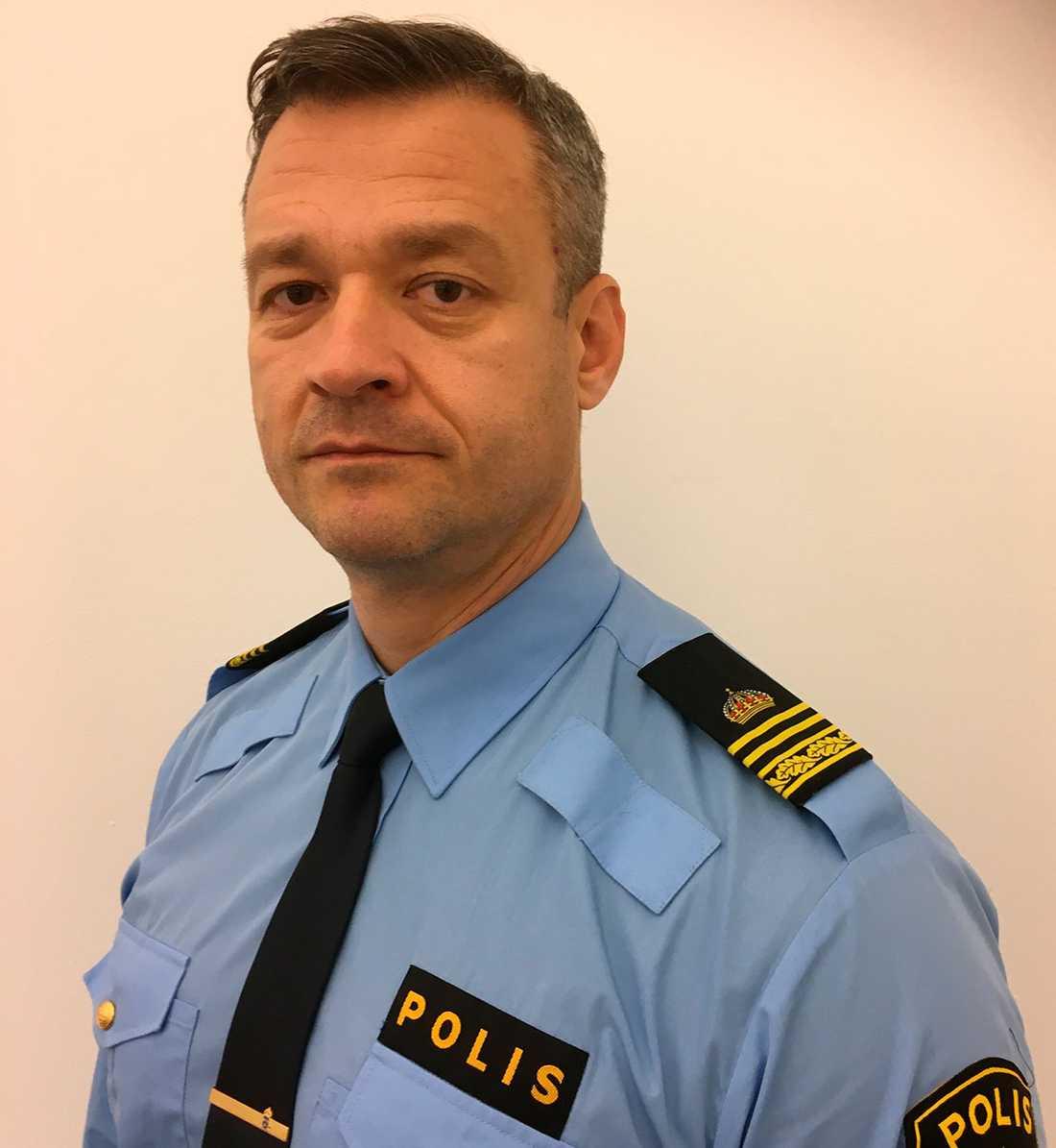 Almir Kudra, chef över brottssamordningen i polisregion Väst.