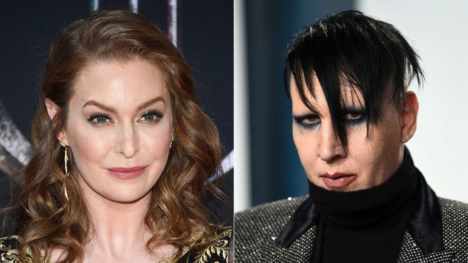 Skådespelerskan Esmé Bianco och artisten Marilyn Manson.