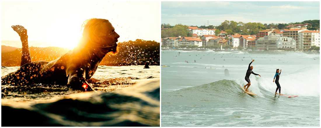 Biarritz är en fantastisk stad att upptäcka om man samtidigt vill lära sig surfa.