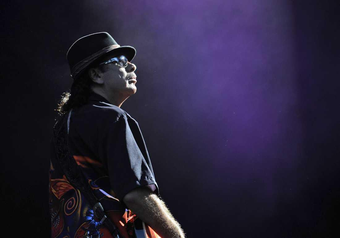 """""""No habrá Santana en Suecia"""". Santana ställer in hela sin Europaturné, inklusive spelningen i Sverige. Arkivbild."""