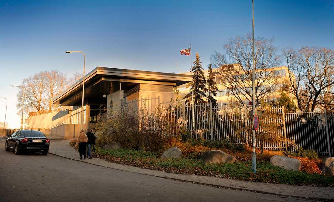 Den amerikanska ambassaden i Stockholm.