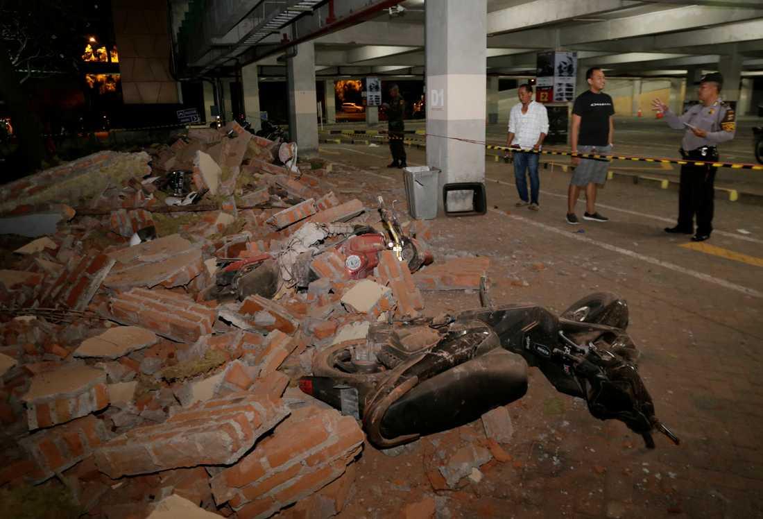 Jordskalvet på Bali krävde många dödsoffer och skapade stor förödelse.