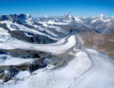 Schweiz glaciärer krymper.