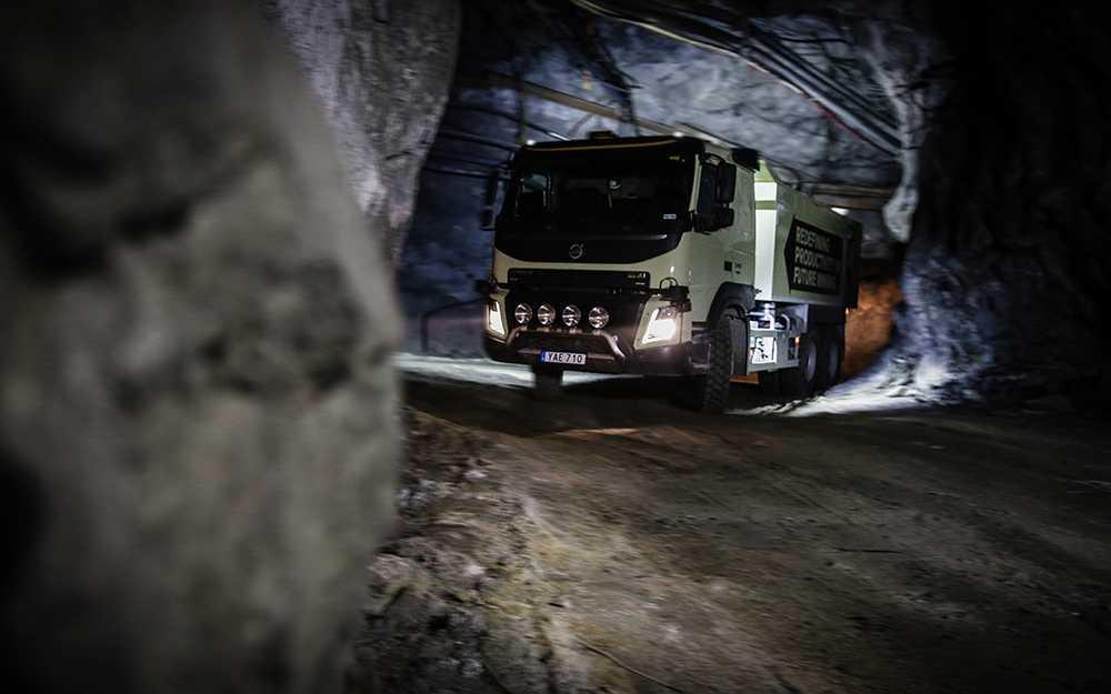 Volvos projekt med självkörande lastbilar tillsammans med Boliden pågår just nu i Kristinebergsgruvan i Lycksele.