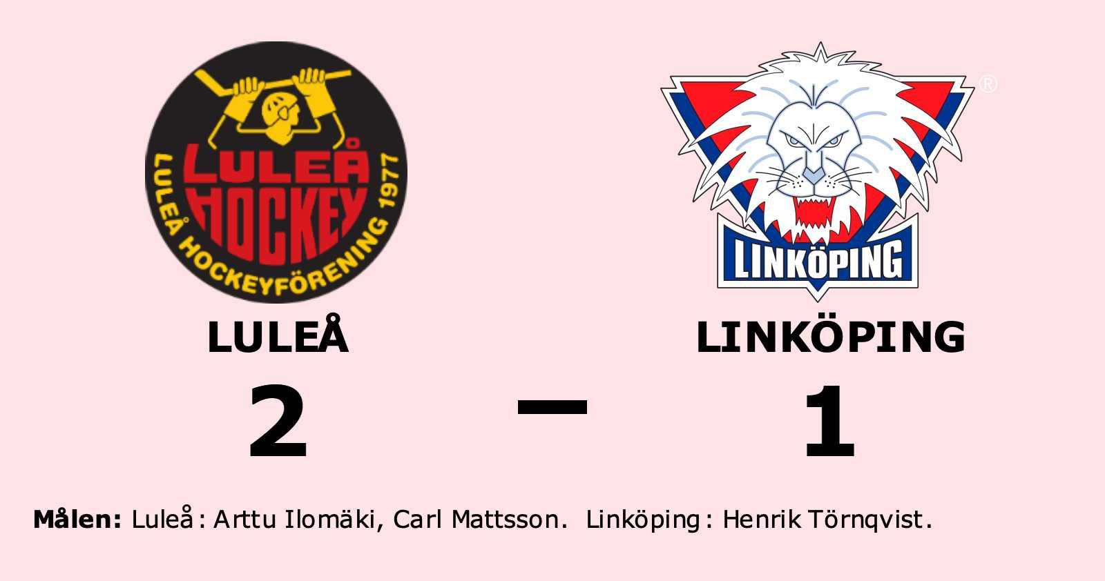 Uddamålsseger för Luleå mot Linköping