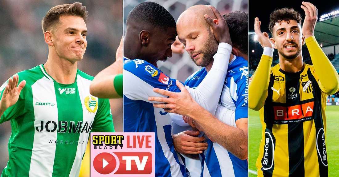 Sportbladet sänder Hammarby, IFK Göteborgs och BK Häckens träningsmatcher.