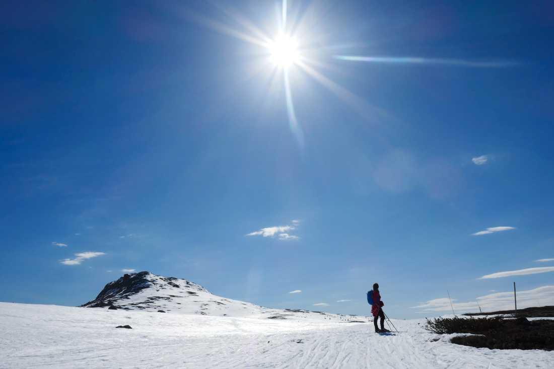 Snödjup på rekordnivå och minusrader gör att man öppnar Funäsdalens skidområde i Härjedalsfjällen för personer som bor i länet. Arkivbild.