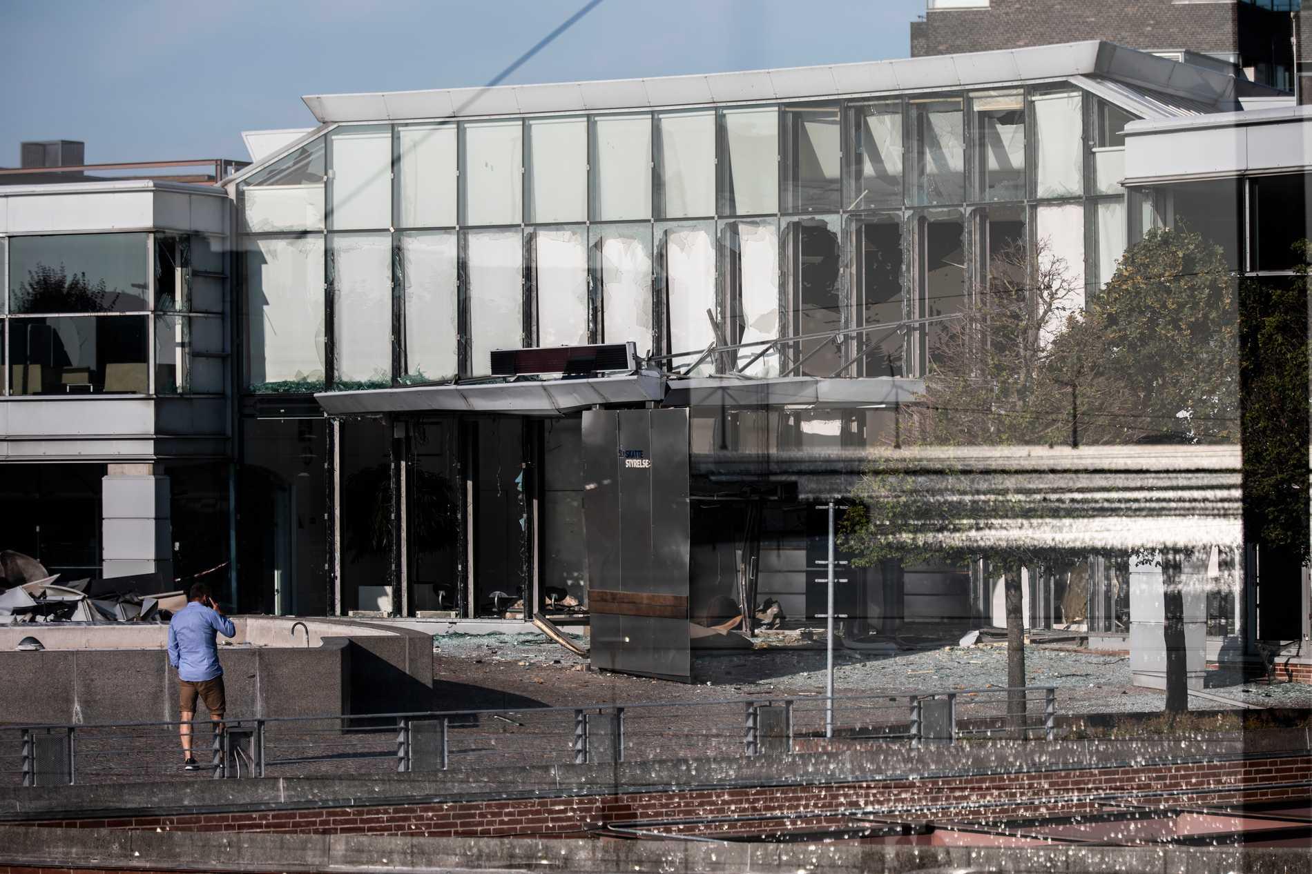 Kvällen den 6 augusti 2019 detonerade en bomb vid Skat-kontoret på Østerbro. Arkivbild.